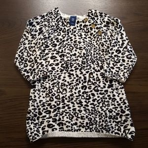 🐆Cute Toddler Girl Leopard Sweater Dress 6-12 mo.